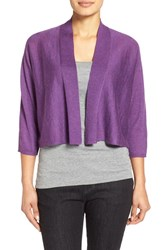 Women's Eileen Fisher Kimono Sleeve Crop Cardigan African Violet
