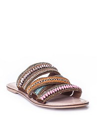 Matisse Kobin Beaded Leather Slides Multi Colored