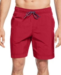 Tommy Hilfiger Big And Tall Tommy Swim Trunks Apple Red