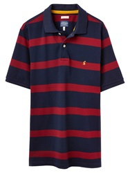 Joules Filbert Stripe Polo Top Red Navy