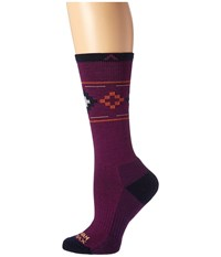 Wigwam Copper Canyon Pro Deep Plum Women's Crew Cut Socks Shoes Purple