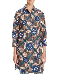 Max Mara Weekend Campos Printed Tunic Orange