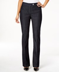 Styleandco. Style And Co. Tummy Control Denim Flare Trouser Pants Only At Macy's