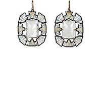 Nak Armstrong Women's Geometric Gemstone Drop Earrings No Color