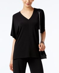 Alfani V Neck High Low Top Only At Macy's Deep Black