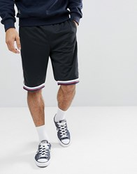 Tommy Jeans Capsule Mesh Icon Stripe Taping Drawstring Shorts In Black Black