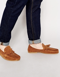 Asos Loafers In Suede Tansuede