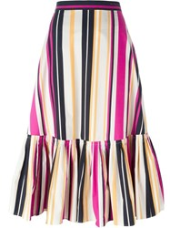 Salvatore Ferragamo Striped Skirt Multicolour