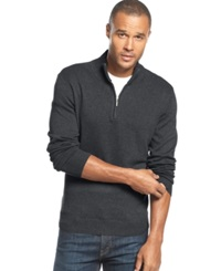 John Ashford Big And Tall Solid Quarter Zip Sweater Cindersmok