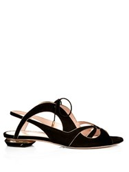 Nicholas Kirkwood Eclipse Flat Sandals Black