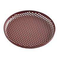 Hay Perforated Aluminium Tray Small Bordeaux