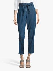 Betty Barclay And Co High Rise Belted Jeans Blue Denim