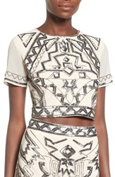 Women's Missguided Embellished Crop Top