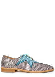 Rogues Superstar Python Print Derby Shoes Pink