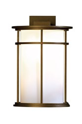 Hubbardton Forge Province Large Outdoor Sconce Bronze Opal Brown