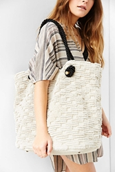 Ecote Textured Weave Tote Bag Ivory