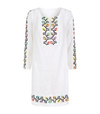 120 Lino Embroidered Linen Tunic Female White