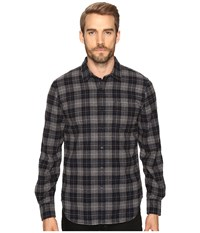 Joe's Jeans Relaxed Single Pocket Flanel Shirt Grey Black Plaid Men's Long Sleeve Button Up Gray