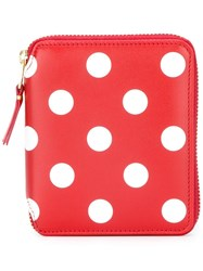 Comme Des Garcons Wallet Polka Dot Wallet Red
