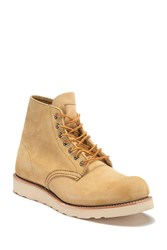 Red Wing Shoes 6 Round Suede Lace Boot Tan