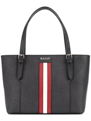 Bally Saffiano Shopping Bag Women Cotton Leather One Size Black