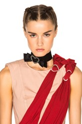 Lanvin Heart And Bow Choker In Black