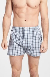 Men's Big And Tall Nordstrom Classic Fit Cotton Boxers Blue Check Stripe