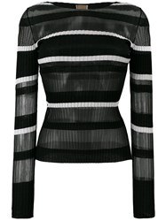 Mrz Long Sleeve Knitted Top Black