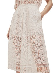 French Connection Arta Lace Culottes Linen White