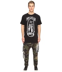 Haculla Long Face Long Tee Black