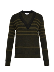 Sonia Rykiel Striped Wool Silk And Cashmere Sweater