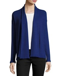Three Dots Thermal Stretch Open Cardigan Blue