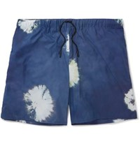 Acne Studios Perry D Mid Length Printed Shell Swim Shorts Navy
