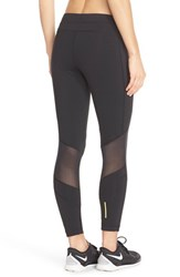 Women's Lole 'Eden' Mesh Inset Leggings Black