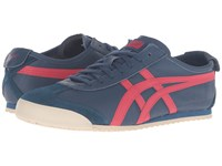 Onitsuka Tiger By Asics Mexico 66 Poseidon Classic Red Lace Up Casual Shoes Blue