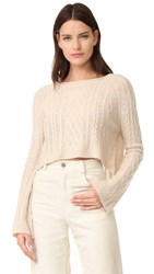 Theperfext Cashmere Cable Sweater Wheat