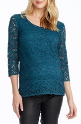 Rosie Pope Women's Becca Lace Maternity Top Emerald