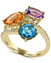 Effy Multi Gemstone 3 1 2 Ct. T.W. And Diamond 1 8 Ct. T.W. Ring In 14K Gold Yellow Gold