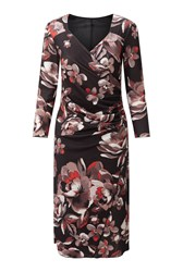James Lakeland Rose Print Dress Black