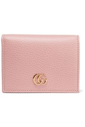 Gucci Textured Leather Wallet Pastel Pink