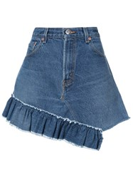 Icons Reconstructed Levi's 501 Skirt Blue
