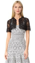 J. Mendel Lace Shrug Black