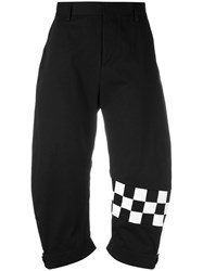 Dsquared2 Cropped Cargo Trousers Black