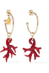 Rosantica Isola Gold Tone And Resin Earrings One Size