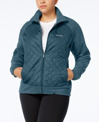 Columbia Plus Size Warmer Days Quilted Fleece Jacket Night Shade