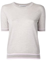 Agnona Knitted Top Nude Neutrals