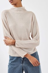 Topshop Gauzy Long Sleeve Top By Boutique Blush