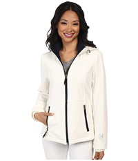 Nautica Hooded Softshell Jacket Cloud Marine Women's Coat White