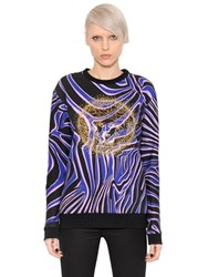 Versace Embellished And Printed Jersey Sweatshirt