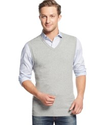 Club Room Cotton Vest Only At Macy's Light Grey Heather